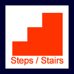 Steps or Stairs Icon